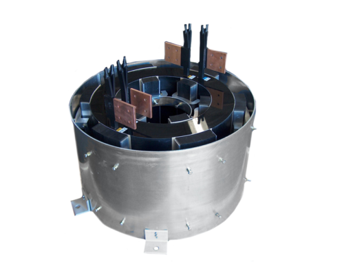 Air Core Choke manufactured by Jackson Transformer Company.